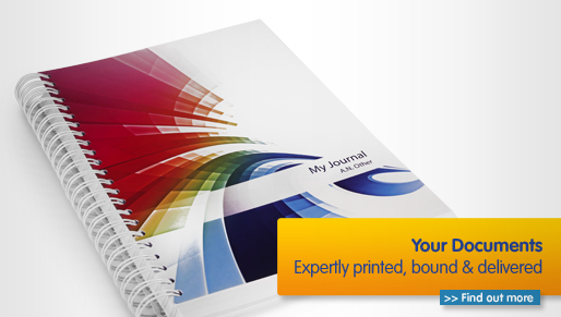 Documents are printed, bound and delivered to you