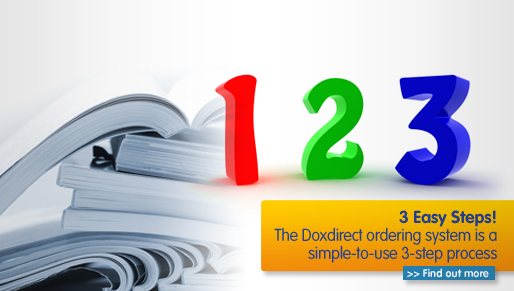 Print documents online using a 3-step ordering process