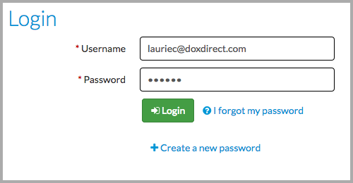 Login to Doxdirect